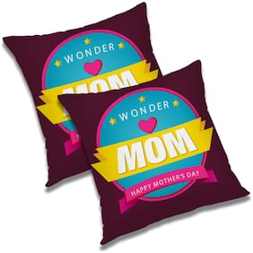 RADANYA Printed Cushion Cover with Filler (Set of 2) 16x16 Inch