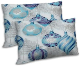 RADANYA Polyester Printed Pillow Covers ( Pack of 2 , Off-White )