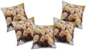 RADANYA Printed Cushion Cover (Set of 5) 24x24 inch
