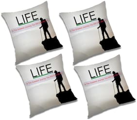 RADANYA Printed Cushion Cover with Filler (Set of 4) 24x24 Inch