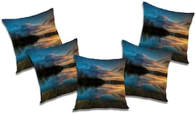 RADANYA Printed Cushion Cover with Filler (Set of 5) 24x24 Inch
