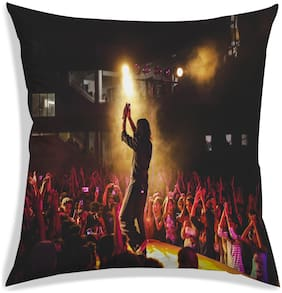 RADANYA Stage Show Printed Polyester Cushion Cover Pillow case For living Room-24x24 inch-Multicolor