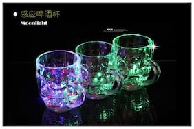Rainbow Color Cup- Glass Beer Mug Pack of 3