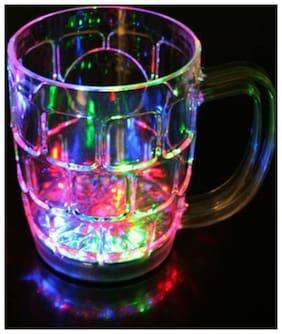 Rainbow Color Cup LED Flashing 7 Color Changing Light. Water or Tea, Lighting Cup, (1Pc) Multi Color