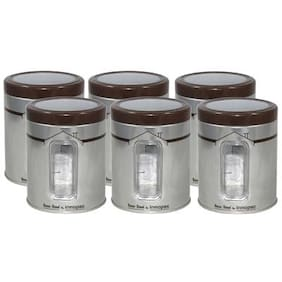 Raj Imported Classic Steel Storage Jars Set Of 6 - 900 ml
