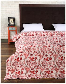 Rajrang Red Color Cotton Ac Quilts & Blankets For Double Bed Jaipuri Rajai