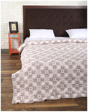 Rajrang Brown Color Cotton Ac Quilts & Blankets For Double Bed Jaipuri Rajai