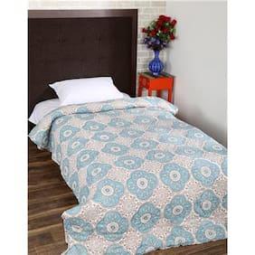 Rajrang Blue Color Cotton Ac Quilts & Blankets For Single Bed Jaipuri Rajai
