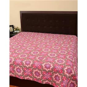 Rajrang Pink Color Cotton Ac Quilts & Blankets For Double Bed Jaipuri Rajai