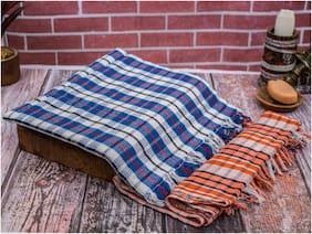 Rakshan 400 GSM Cotton Bath Towel ( Pack of 2 , Multi )