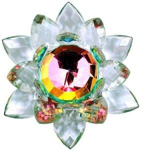Ranbir  White Glass Big Crystal Lotus