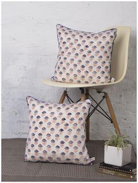 Rangdesi Handblock print Bagh Cushion cover-Set of 2