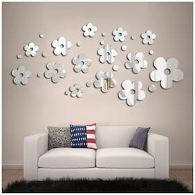 Rangoli Flower Mirror Wall Sticker For Bed Room