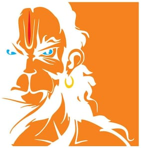 Rangoli God And God'S Large Hanuman Modern Art Wall Sticker (Set Of 1)