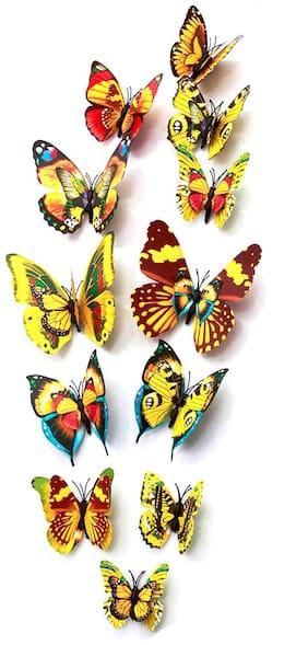 Rangoli Wall Decor 3D Butterfly Wall Stickers