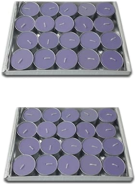 Rasmy Candles Scented Lavender Tealight Candle Pac Of 40