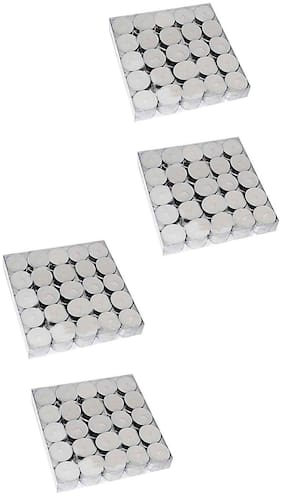 Rasmy Candles White Tealight Candle (Pack Of 100)