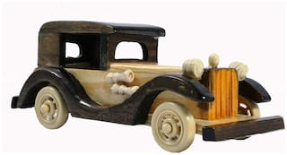 RAVIVA Wooden Chinese Car Miniature for Home Decoration Purposes
