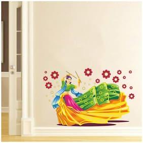 Rawpockets Wall Stickers 'Dandiya Dancing Girl'