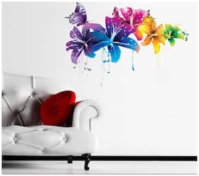Rawpockets Wall Stickers 'Flowers with Butterfly'
