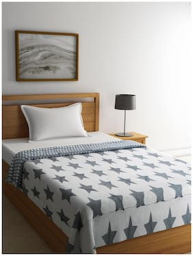 Raymond Home Wool Abstract Single Size Quilt Grey