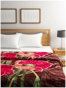 Raymond Home Red Double Blanket