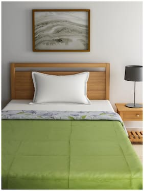 Raymond Home Wool Floral Single Size Comforter Green