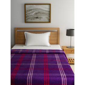 Raymond Home Purple Single Blanket