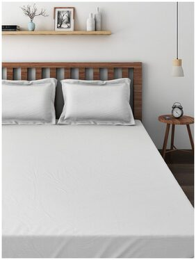 Raymond Home White Double Bedsheet with 2 Pillow Covers