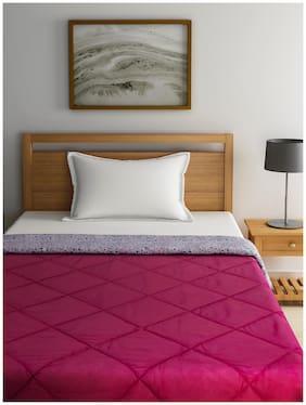 Raymond Home Wool Solid Single Size Comforter Maroon
