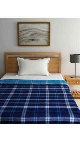 Raymond Home Blue Single Blanket