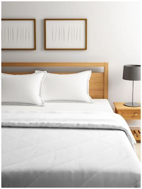 Raymond Home Wool Abstract Double Size Comforter White