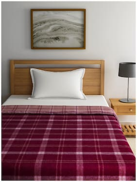 Raymond Home Red Single Blanket