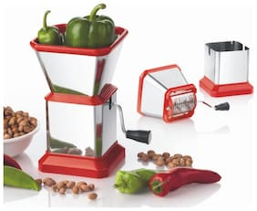 RDY vegetable chilli cutter chopper, onion cutter garlic ginger chopper stainless steel multi color