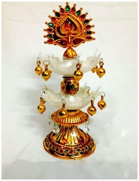 Rebuy Exquisite Decoration For Home;Office;Shop with LED Jyoti Diya for all occasion Plastic Table Diya