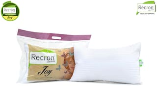 Recron Certified Joy Pillow; Size - 60 CM (16 Inch) x 40 CM (24 Inch) Pack of 2
