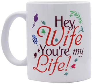 Red Moments Womens Day Special Quoted Ceramic White Mug for Wifes