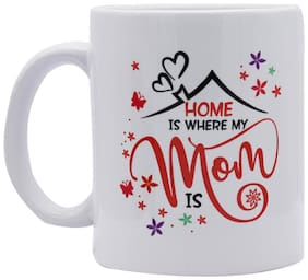 Red Moments Womens Day Special Quoted Ceramic White Mug for Mothers