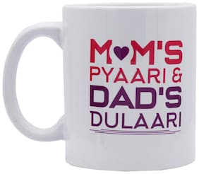 Red Moments Womens Day Special Quoted Ceramic White Mug for Mother/ Daugther/Wife/Sister/Girlfriend