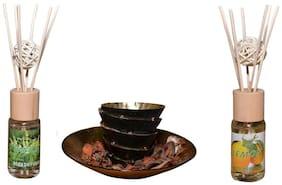 Reed Diffuser Set of 2pcs  Vanilla ,Lemon with Decorative Sticks natural Fragrance