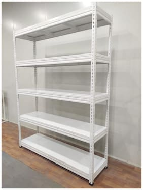 Reliable Hub s Bolt less Rack 5-Shelves Heavy Duty Slotted Angle Storage Rack/Adjustable Height Shelving Unit (H=1800,L=900,D=450) mm