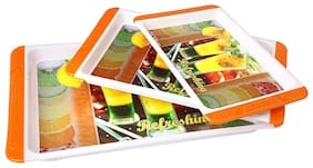 Rema Elegance - Blossom Plastic Multipurpose Serving Tray - 3 pcs Set