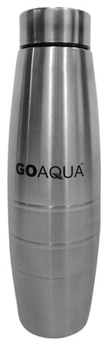 Rema Stainless Steel Silver Water Bottle ( 1000 ml , Set of 1 )