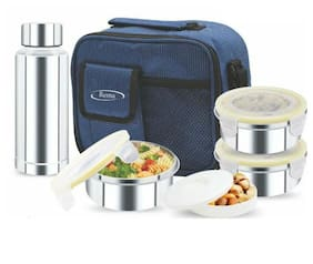Rema 1 Containers Stainless steel Lunch Box - Blue