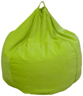 Reme Solid Organic Cotton Velvet Green Bean Bag Covers in XXL Size