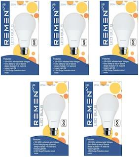 REMEN 20W Switch-Dim Led Bulb, 3 in 1 Led Bulb (20W-10W-5W) (Pack of 5)