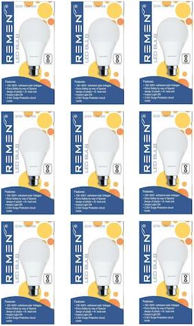 REMEN 20W Switch-Dim Led Bulb, 3 in 1 Led Bulb (20W-10W-5W) (Pack of 9)