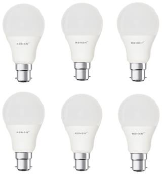 Remen 5 Watt ,B22 Ac, Cool White,Led Bulb,(Pack Of 6)