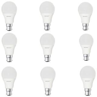 Remen 5 Watt ,B22 Ac, Cool White,Led Bulb,(Pack Of 9)