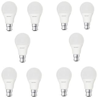 Remen 9 Watt ,B22 Ac, Cool White,Led Bulb,(Pack Of 10)